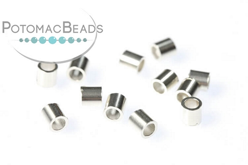 Sterling Silver Crimp Beads 2x2mm Per 20