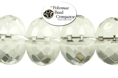Czech Faceted Rondelle Crystal 11x