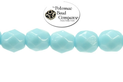 Czech Faceted Round Turquoise 6mm