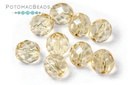 Czech Faceted Round Topaz Luster