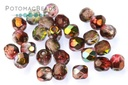 Czech Fire Polished Faceted Round Magic Wine