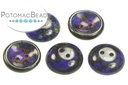 Cup Button Dark Blue Travertine