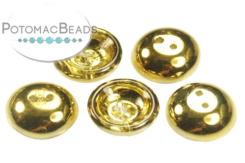 Cup Button Crystal Amber