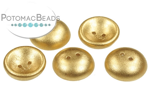 Cup Button Crystal Aztec Gold