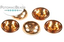 Cup Buttons - Topaz Capri Gold - 14mm - Pack of 30 - Bag - Pack of 30