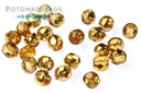 Czech Faceted Round Apricot Metal