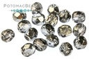 Czech Faceted Round Earthtone Met