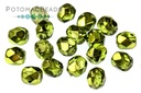 Czech Faceted Round Olive Metalli