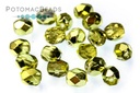 Czech Faceted Round Lime Metallic