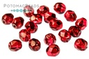 Czech Faceted Round Pomegranate M