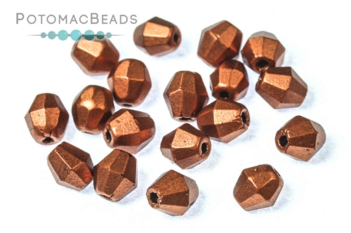 Czech Bicones 5mm Copper