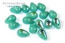Czech Drop Beads -Jade AB 4x6mm
