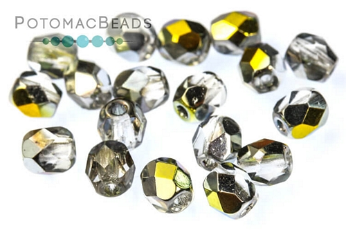 Czech Fac Round Crystal Marea 4mm