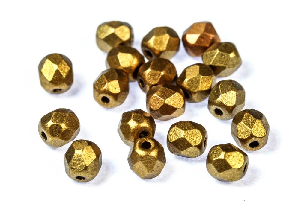 Czech Fac Round Metallic Mix 4mm