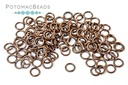 Jump Rings - Open 5mm 20G Premium Antique Copper Plated Brass