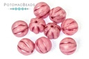 Melon Beads - Rose Opal Matted Rose Wash 8mm