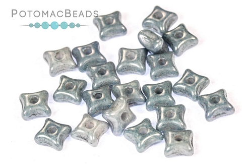 Orion Beads - White Baby Blue Luster