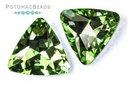 Potomac Crystal Triangles - Peridot 23mm