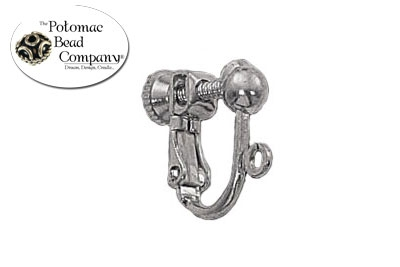 Silver Plated Clip Screw Back w/ 4mm Ball