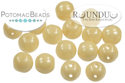 RounDuo Beads White Champagne Luster (Pack of 600)