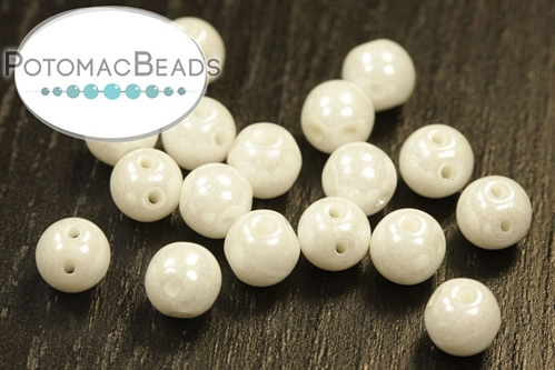 RounDuo Beads White Shimmer (Pack of 75)