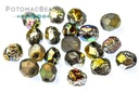 Czech Faceted Round Etched Vitrail Full