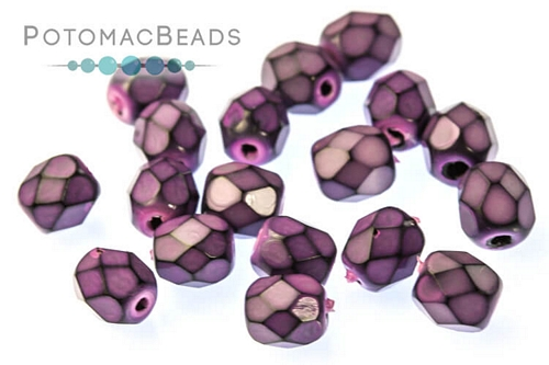 Czech Faceted Round Snake Lilac 4mm