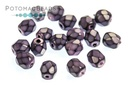Czech Faceted Round - Snake Dark Orchid 4mm