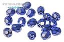 Czech Faceted Round Snake Cobalt Blue 4mm