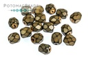 Czech Faceted Round Snake Sand 4mm