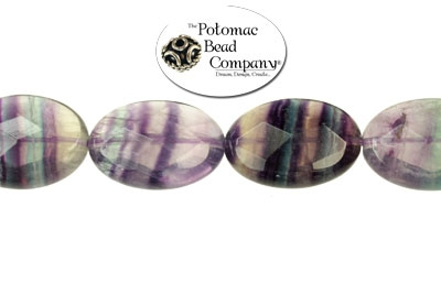 Fluorite Faceted Ovals