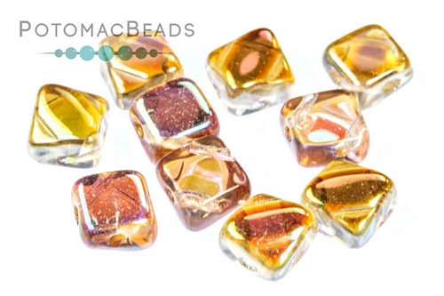 Silky Bead Crystal Brown Rainbow