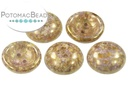 Cup Button - White Lila Gold Luster (30 pack)