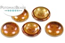 Cup Button - Topaz Light Apricot Full (5 pack)