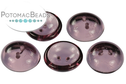Cup Button Amethyst (5 pack)