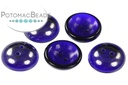 Cup Button Dark Blue Vacuum Hematite (30 pack)