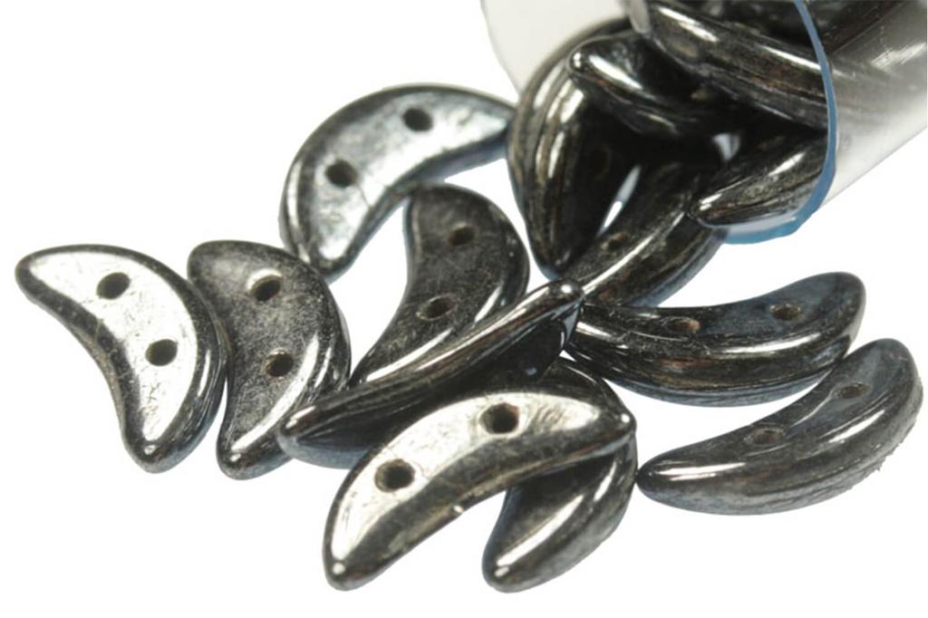Crescent Beads - Hematite - 9g Tube - Pack of 75