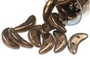 Crescent Beads - Dark Bronze - 9g Tube - Pack of 75