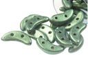 Crescent - Light Green Metallic Suede