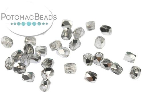 Czech Fac Round Crystal Labrador
