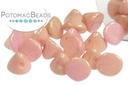 Button Bead White Lila Luster