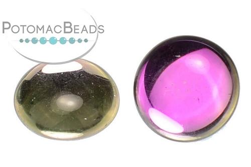 Czech Cabochon - Backlit Pink Mist - 18mm - Bag - Pack of 1
