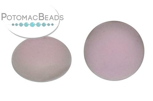 Czech Cabochon - Matte Backlit Pink Mist - Bag - Pack of 1
