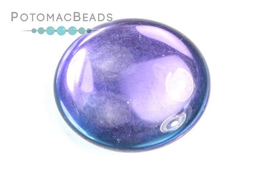 Czech Cabochon - Backlit Violet Ice - Bag - Pack of 1