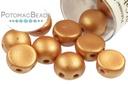 2-Hole Cabochon - Metallic Copper
