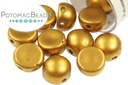 2-Hole Cabochon - Metallic Brass