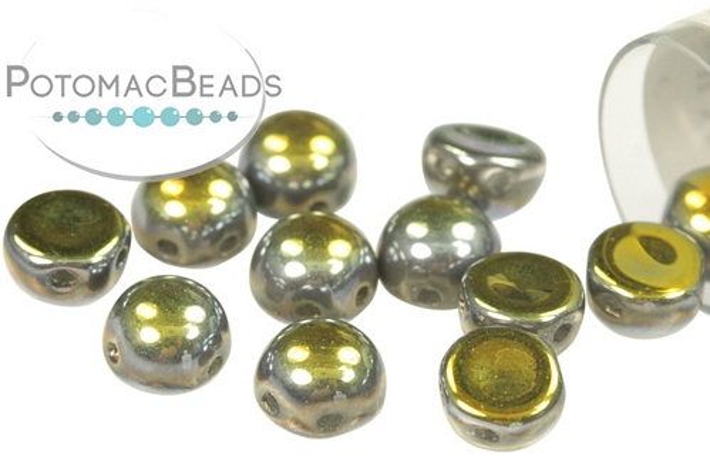 2-Hole Cabochon - Crystal Full Marea