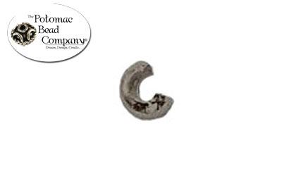 Antique Silver Crimp Covers 3mm