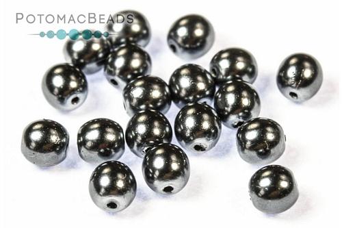Czech Pearls Dark Grey Shiny