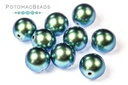 Czech Pearls Moonstone Blue Shiny